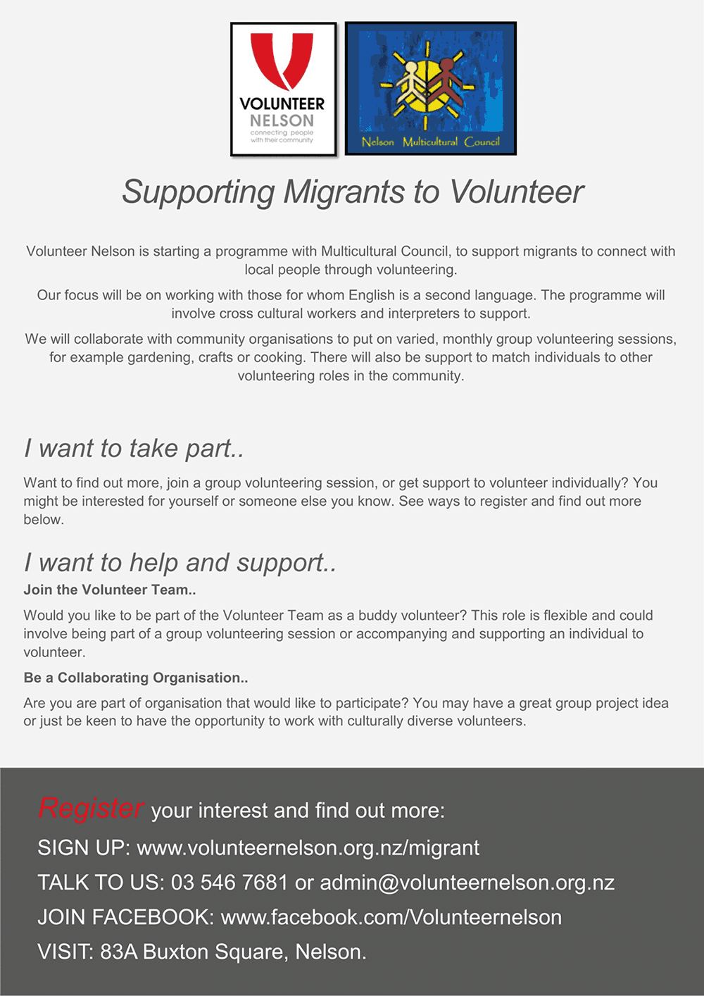 Supporting Migrants to Volunteer
